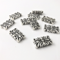10 Tibetan Silver 5 holes 24mm Spacer Beads